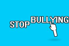 Conceptual hand writing showing Stop Bullying. Business photo showcasing Fight and Eliminate this Aggressive Unacceptable Behavior.  vector illustration