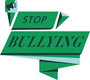 Conceptual hand writing showing Stop Bullying. Business photo text Fight and Eliminate this Aggressive Unacceptable Behavior.  royalty free illustration
