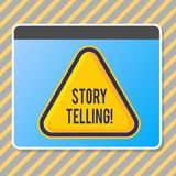 Conceptual hand writing showing Story Telling. Business photo text activity writing stories for publishing them to stock illustration
