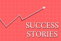 Conceptual hand writing showing Success Stories. Business photo showcasing life of rule models from how he started to. Conceptual hand writing showing Success stock illustration