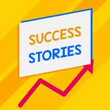 Conceptual hand writing showing Success Stories. Business photo showcasing life of rule models from how he started to. Conceptual hand writing showing Success royalty free illustration