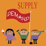 Conceptual hand writing showing Supply Demand. Business photo text Relationship between the amounts available and wanted.  royalty free illustration