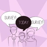 Conceptual hand writing showing Survey. Business photo text Questioning group of showing to gather opinion on a. Conceptual hand writing showing Survey. Concept royalty free illustration