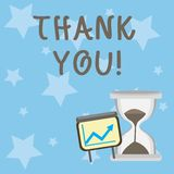 Conceptual hand writing showing Thank You. Business photo showcasing polite expression used when acknowledging gift