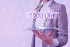 Free Conceptual Hand Writing Showing Toolkit. Business Photo Text Set Of Tools Kept In A Bag Or Box And Used For A Particular Royalty Free Stock Image - 179077106