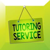 Conceptual hand writing showing Tutoring Service. Business photo showcasing the act of teaching or instructing other branch of