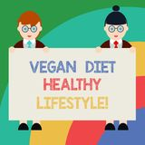 Conceptual hand writing showing Vegan Diet Healthy Lifestyle. Business photo text Healthy lifestyle eating vegetables stock illustration
