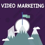 Conceptual hand writing showing Video Marketing. Business photo text create short videos about specific topics using. Conceptual hand writing showing Video stock illustration