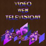 Conceptual hand writing showing Video Web Television. Business photo showcasing television shows hosted on the channel s. Is websites Colorful Instrument vector illustration
