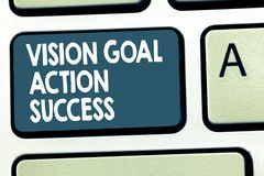 Conceptual hand writing showing Vision Goal Action Success. Business photo showcasing Strategic Planning Process Act. Your Dreams vector illustration