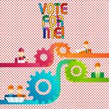 Conceptual hand writing showing Vote For Me. Business photo showcasing Campaigning for a government position in the upcoming. Election vector illustration