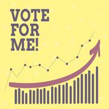 Conceptual hand writing showing Vote For Me. Business photo showcasing Campaigning for a government position in the upcoming. Election stock illustration