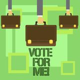 Conceptual hand writing showing Vote For Me. Business photo text Campaigning for a government position in the upcoming. Election vector illustration