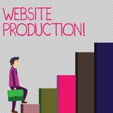 Conceptual hand writing showing Website Production. Business photo showcasing process of creating websites and it s is. Conceptual hand writing showing Website vector illustration