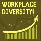 Conceptual hand writing showing Workplace Diversity. Business photo text Different race gender age sexual orientation of. Workers royalty free illustration
