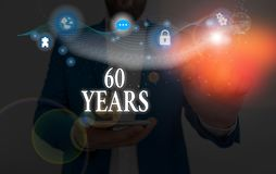 Conceptual hand writing showing 60 Years. Business photo showcasing It is the onset of a golden era Commemorating a