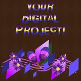 Conceptual hand writing showing Your Digital Project. Business photo showcasing production that goes in creating. Electronic publication Colorful Instrument royalty free illustration