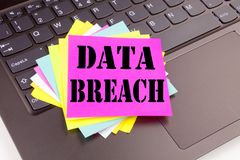 Conceptual hand writing text caption inspiration showing Data Breach concept for Tech Internet Network Breaking into Database and Stock Images