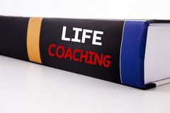 Conceptual hand writing text caption inspiration showing Life Coaching. Business concept for Personal Coach Help written on the bo. Ok the white background Stock Photo