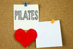 Conceptual hand writing text caption inspiration showing Pilates concept for Fitness Balance Workout Exercise and Love written on Stock Images
