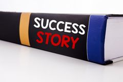 Conceptual hand writing text caption inspiration showing Success Story. Business concept for Inspiration Motivation written on the. Book the white background Royalty Free Stock Photo