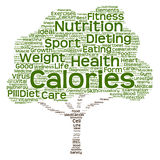 Conceptual health or diet tree word cloud Stock Images