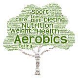 Conceptual health or diet tree word cloud Royalty Free Stock Images