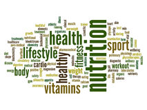 Conceptual health word cloud Royalty Free Stock Image
