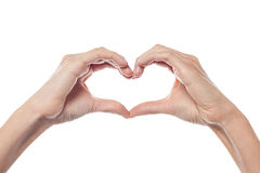 Conceptual heart shape Royalty Free Stock Images