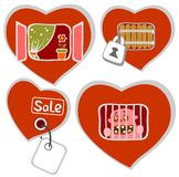Conceptual hearts Royalty Free Stock Photography