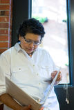 Conceptual Hispanic Successful Professional Female. Conceptual Successful Professional Latina Female stock photos