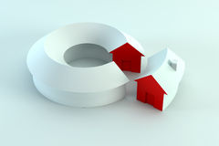 Conceptual house diagram 3d render Royalty Free Stock Images