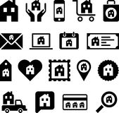 Conceptual House icons Stock Image
