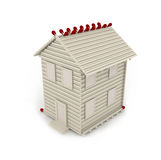 Conceptual House from Matches Royalty Free Stock Photography