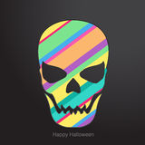 Conceptual human skull. Vector illustration. Stock Photo