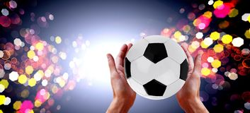 Conceptual idea match football royalty free stock image