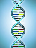 Conceptual Illustration of a DNA molecule Stock Photos