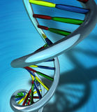 Conceptual Illustration of a DNA molecule stock illustration