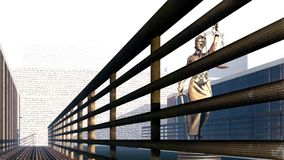 Conceptual illustration on existence in prison 3d rendering. Conceptual illustration on existence in prison Stock Images