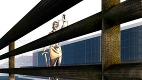 Conceptual illustration on existence in prison 3d rendering. Conceptual illustration on existence in prison Stock Photo