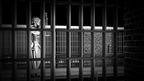 Conceptual illustration on existence in prison 3d rendering. Conceptual illustration on existence in prison Royalty Free Stock Photography