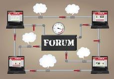 Conceptual illustration: Forum. Stock Photos