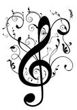 Conceptual illustration of a G clef Stock Images