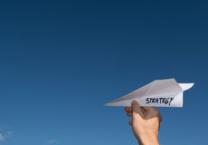 Conceptual illustration of launching a new strategy.  Royalty Free Stock Images