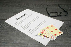 Conceptual illustration of loosing the contract Royalty Free Stock Image