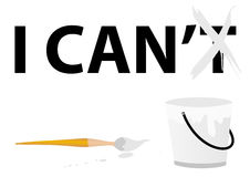 Conceptual illustration with paint bucket Stock Image