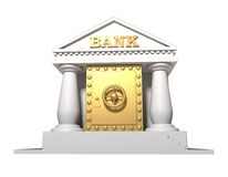 The gold safe which has been built in in the build Royalty Free Stock Images