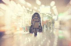 Conceptual illustration, shopping Stock Photo