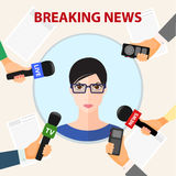 Conceptual illustration on the theme of breaking news Royalty Free Stock Photo