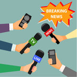 Conceptual illustration on the theme of breaking news Royalty Free Stock Photography